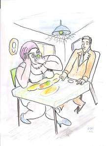 Schweigendes Paar im Café. (c) Michael Mutschler, 2011